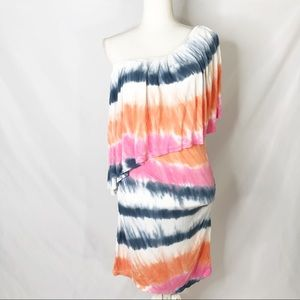 Young fabulous and broke tiedye one shoulder dress